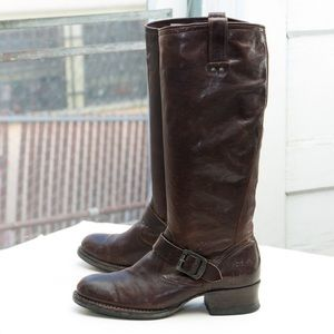 Frye 'Martina Engineer Tall' boot, brown leather