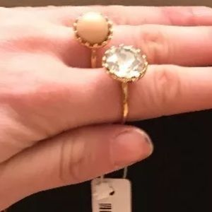 Ann Taylor Jewelry - 2 Ann Taylor rings 1 is creme, 1 cubic zirconium