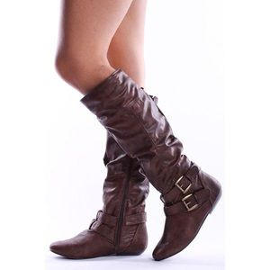 Cathy Jean Shoes - Cathy Jean brown leather boots