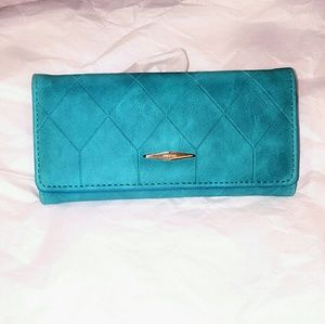 Shop CAB Handbags - Brand New! Blue Leather Wallet
