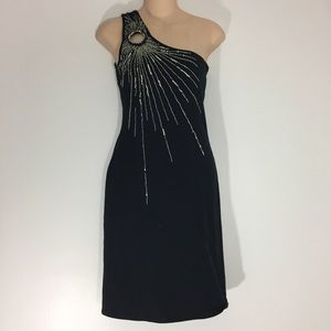 Topshop Kate Moss Beaded One Shoulder Dress 10