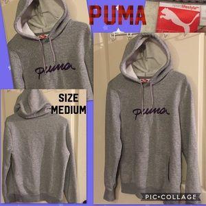 Gray Puma hoodie. Women's size Medium