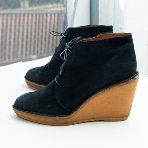 Marc by Marc Jacobs lace-up crepe wedge bootie