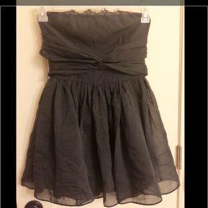 Topshop PETITE Dresses & Skirts - Topshop PETITE Navy dress eyelash Lace trim sz 4
