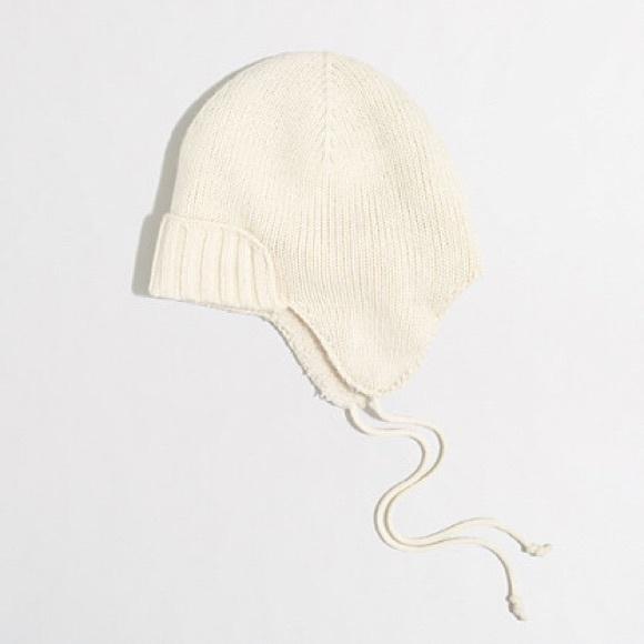 c3be3d308cb97 J.Crew Trapper Hat - Wool Blend - Warm Ivory