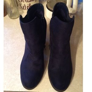 Mix No. 6 Shoes - Mix No. 6 Size 11 Blue Suede Booties
