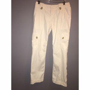 Banana Republic Pants - Banana Republic Martin Cream Pants Sz 6