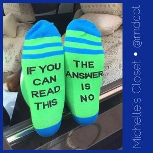 Other - The Answer is No socks