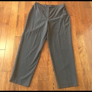 Laura Scott Pants - Petite Dark Chocolate Slacks