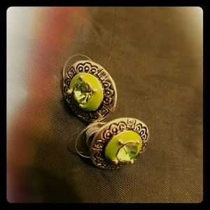 Vintage lime green Earrings