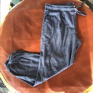 Alternative Apparel Pants - Alternative Apparel Eco-Jersey navy cropped jogger