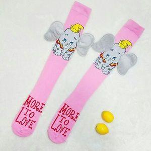 Disney Accessories - Adorable 3D Dumbo Disney Knee High Socks Size 5-10