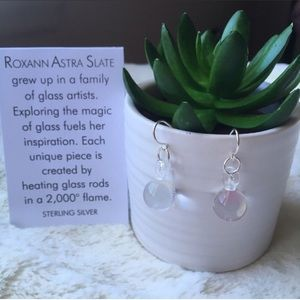 Roxann Slate Jewelry - NIP Handmade In NY SS Glass Ball Earring