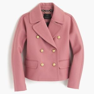 Jcrew Pink Crop Coat