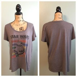 Star Wars Tops - Star Wars size XL BB-8 gray short sleeve shirt!