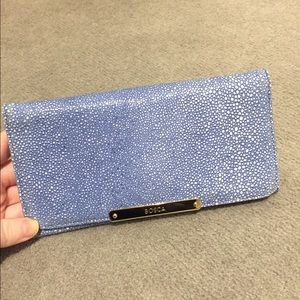 Bosca Handbags - Bosch Blue Stingray Leather Wallet
