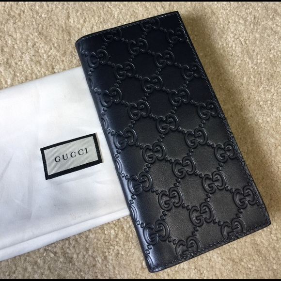 7a9316d0c03ee8 Gucci Bags | Authentic Leather Monogram Mens Long Wallet | Poshmark