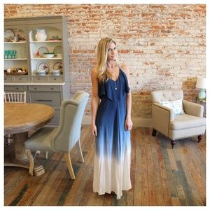 Blue Ombre' Maxi Dress