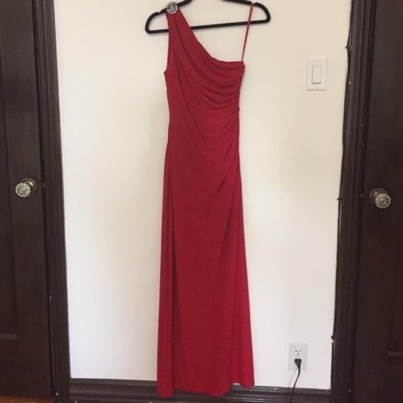 Lauren Ralph Lauren Dresses | Ralph Lauren Oneshoulder Brooch ...