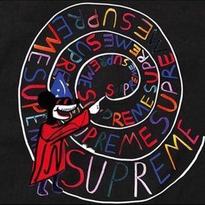Black Supreme Joe Roberts swirl tee size M