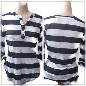 DNA couture Tops - DNA black& White stripes tops/ Blouse Size Medium