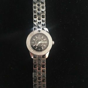 Christian Dior christal black sapphire watch