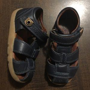 Bobux Other - Bobux | IWALK Leather Blue Sandals, Size 4.5