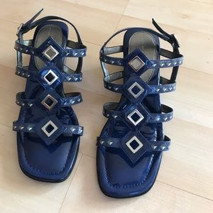 Marc by Marc Jacobs Shoes - Dark blue Marc Jacobs all leather wedges
