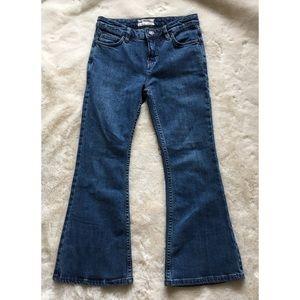NWOT Free People Denim Flare Jeans Medium Wash