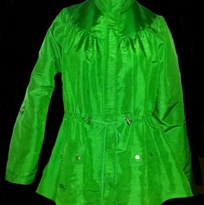 Jaclyn Smith Vibrant Green Windbreaker