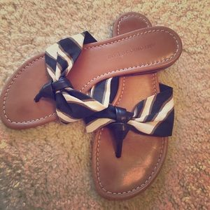Antonio Melani brown zebra flat sandals