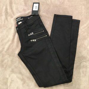 Parasuco Denim - NWT PARASUCO black skinny sheen Moto  jeans 28