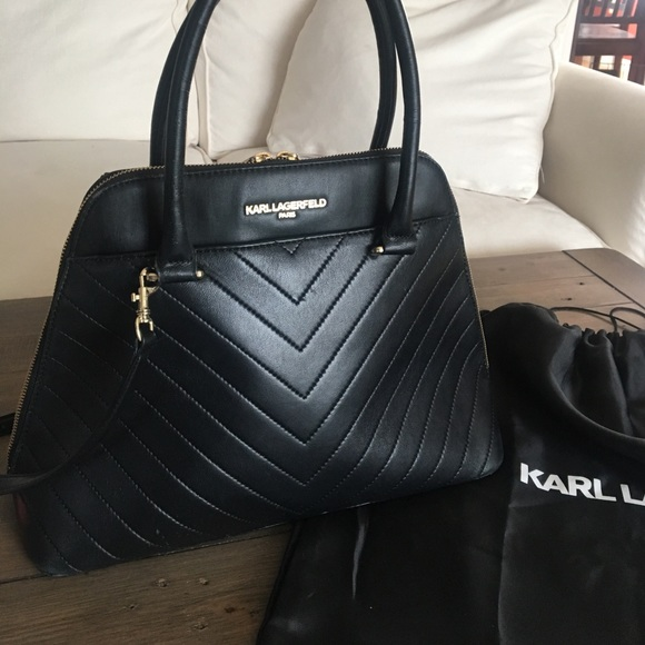 83530fbd962f Karl Lagerfeld Handbags - KARL LAGERFELD PARIS Gigi Leather Dome Satchel