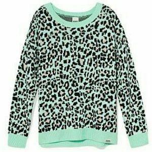 PINK Victoria's Secret Sweaters - Victoria's Secret PINK Blue Cheetah CozySweater!