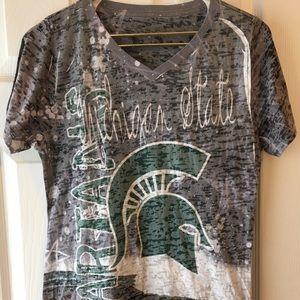 Blue 84 Tops - Michigan State small tee shirt MSU