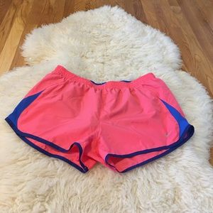 PINK AND BLUE NIKE ATHLETIC SHORTS