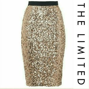 The Limited Dresses & Skirts - The Limited Rose gold sequin skirt! SALE!