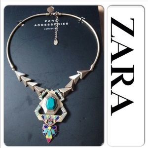 Zara Multicolor Ethnic Bold Statement Necklace