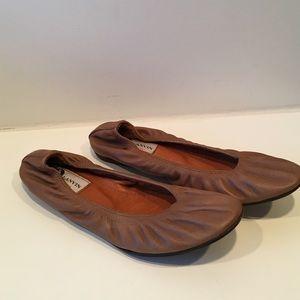 Lanvin Shoes - Lanvin chestnut leather ballerina flat