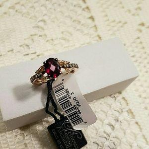 Le Vian 14K Rose Gold Rhodolite & Diamond Ring