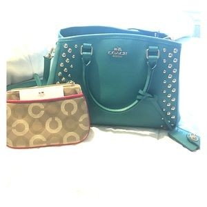 COACH Mini Margot Carryall Studded Leather