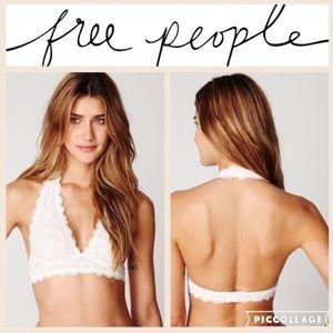 Free People Intimates & Sleepwear - Free People Galloon Lace Halter Bralette/Ivo/S
