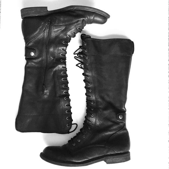 0eb7c7f8eb324 Steve Madden Shoes | Tall Lace Up Combat Bootssale | Poshmark