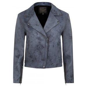 Muubaa Jackets & Blazers - Muubaa paso navy marble leather biker jacket US 8