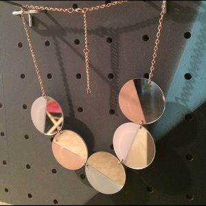 Mirrored circles necklace with pastel accents