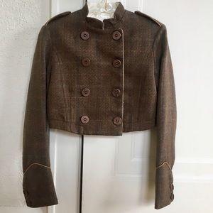 EDUN Jackets & Blazers - Edun Cropped Jacket with Hidden Rilke Poem