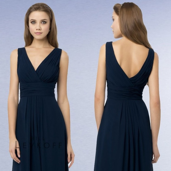 f23f91452955 Bill Levkoff Dresses & Skirts - Bill Levkoff bridesmaid dress style 768 navy