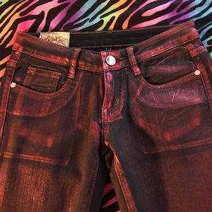 🇺🇸 Red/black shlney jeans 👖NWT 🌹