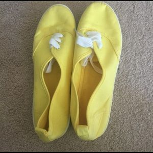 Yellow canvas sneakers from H&M