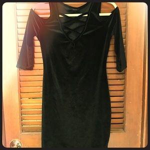 Dresses & Skirts - Black Velvet cutout dress